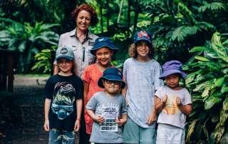 Children Group Photo in Cairns Botanic Gardens