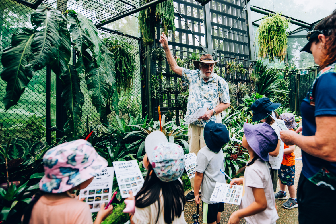 School Group in the conservatory of the Cairns Botanic Gardens