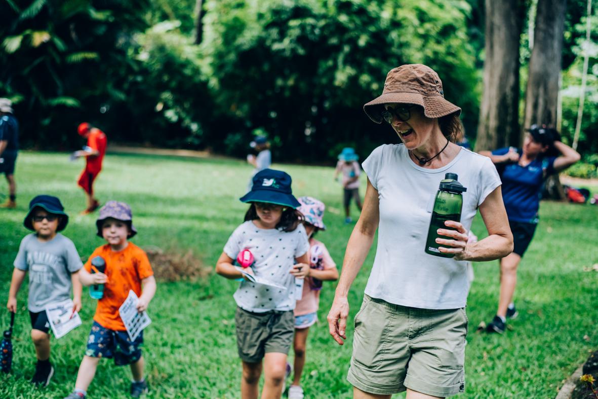 children with Let's Go Buggin Crew