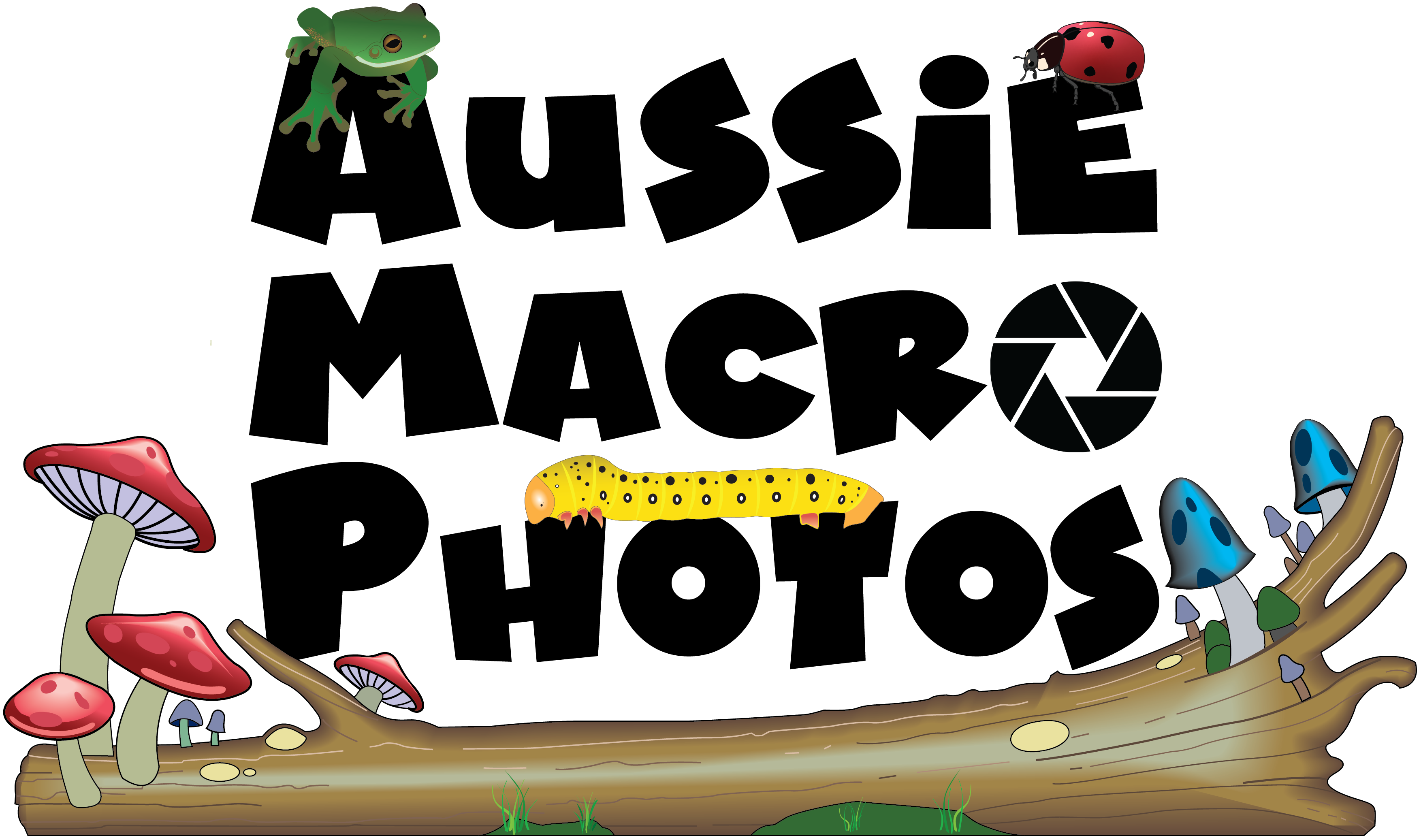 Aussie Macro Photos Logo © Bridgette Gower 2021 Aussie Macro Photos